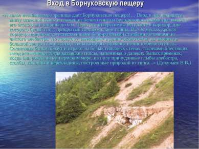 Вход в Борнуковскую пещеру «А какое незабываемое зрелище дает Борнуковская пе...