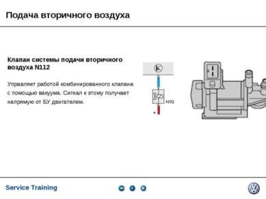 Service Training, VK-21, 05.2005 Клапан системы подачи вторичного воздуха N11...