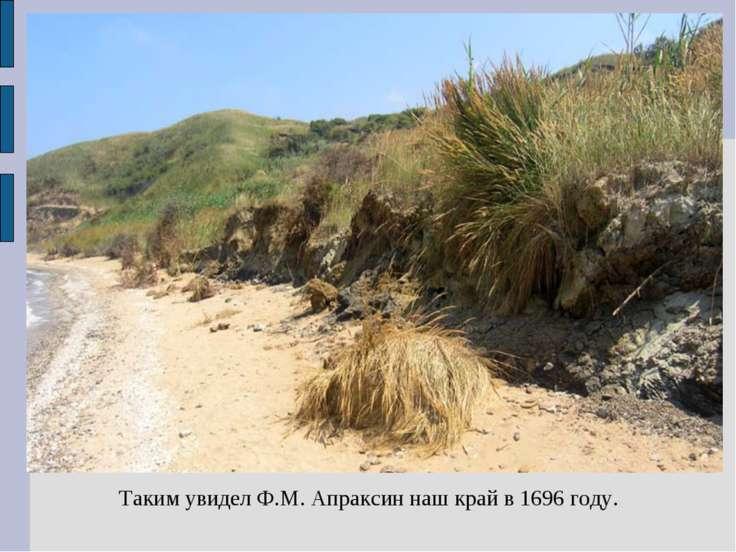 Таким увидел Ф.М. Апраксин наш край в 1696 году.