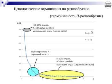 Ценологические ограничения по разнообразию (гармоничность Н-разнообразия)