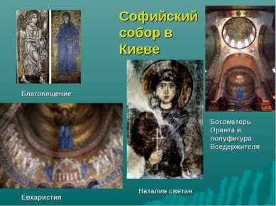 Богоматерь Оранта и полуфигура Вседержителя Благовещение Евхаристия Наталия с...