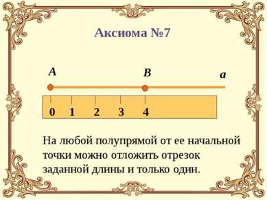 На любой полупрямой от ее начальной точки можно отложить отрезок заданной дли...