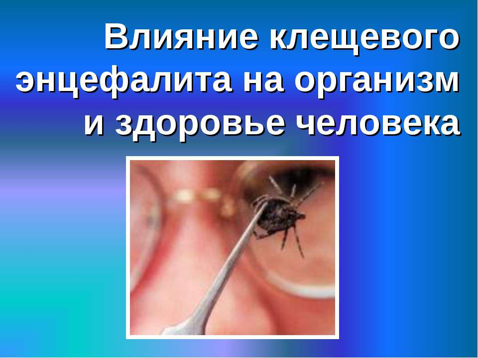 Влияние клещевого энцефалита на организм и здоровье человека
