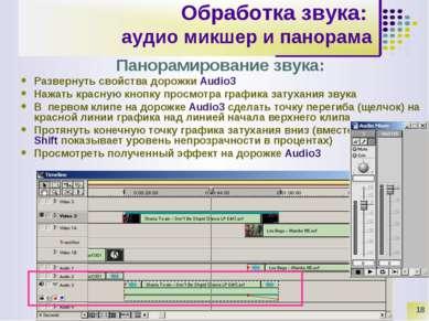 * Обработка звука: аудио микшер и панорама Панорамирование звука: Развернуть ...