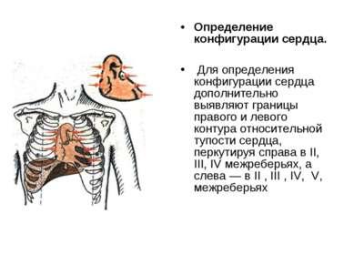 Определение конфигурации сердца. Для определения конфигурации сердца дополнит...
