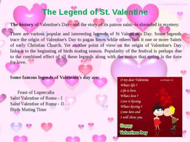 The Legend of St. Valentine The history of Valentine's Day--and the story of ...