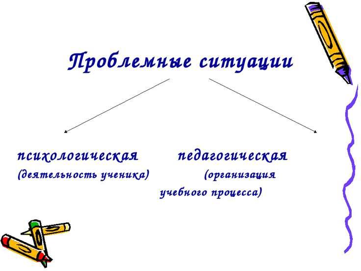 Проблемные ситуации психологическая педагогическая (деятельность ученика) (ор...