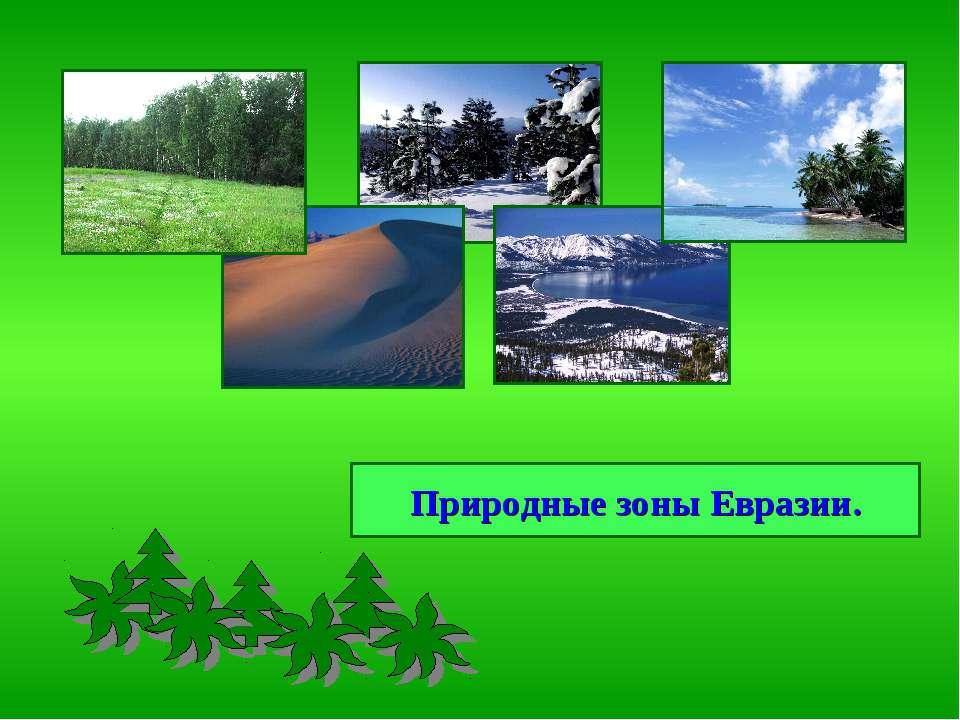 Природные зоны Евразии.
