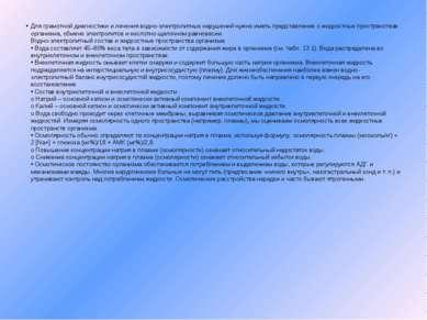 Для грамотной диагностики и лечения водно-электролитных нарушений нужно иметь...
