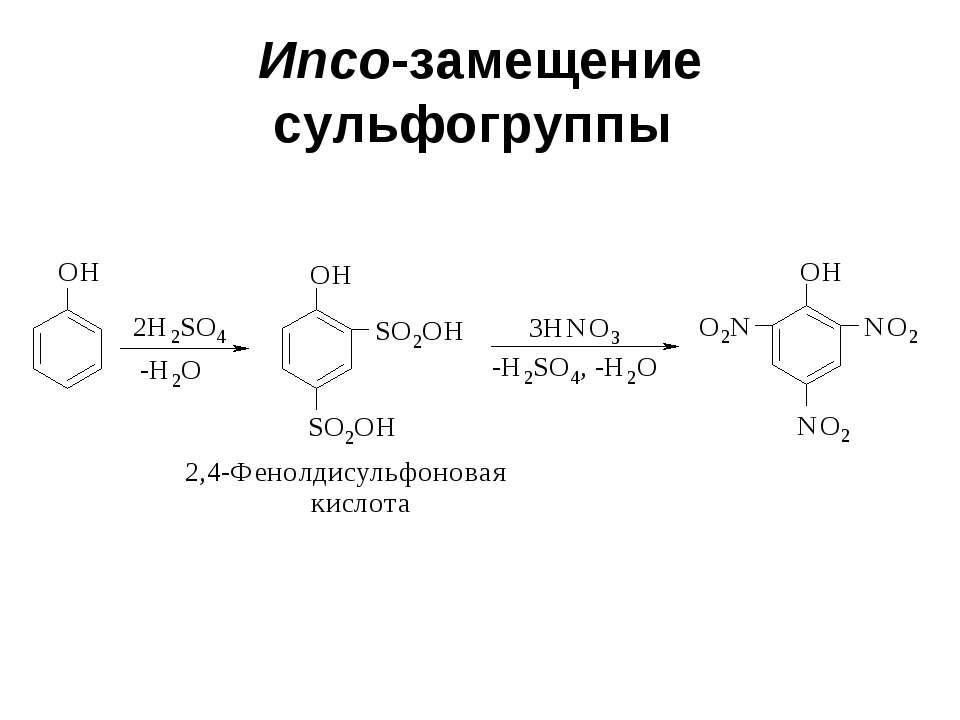 Ипсо-замещение сульфогруппы