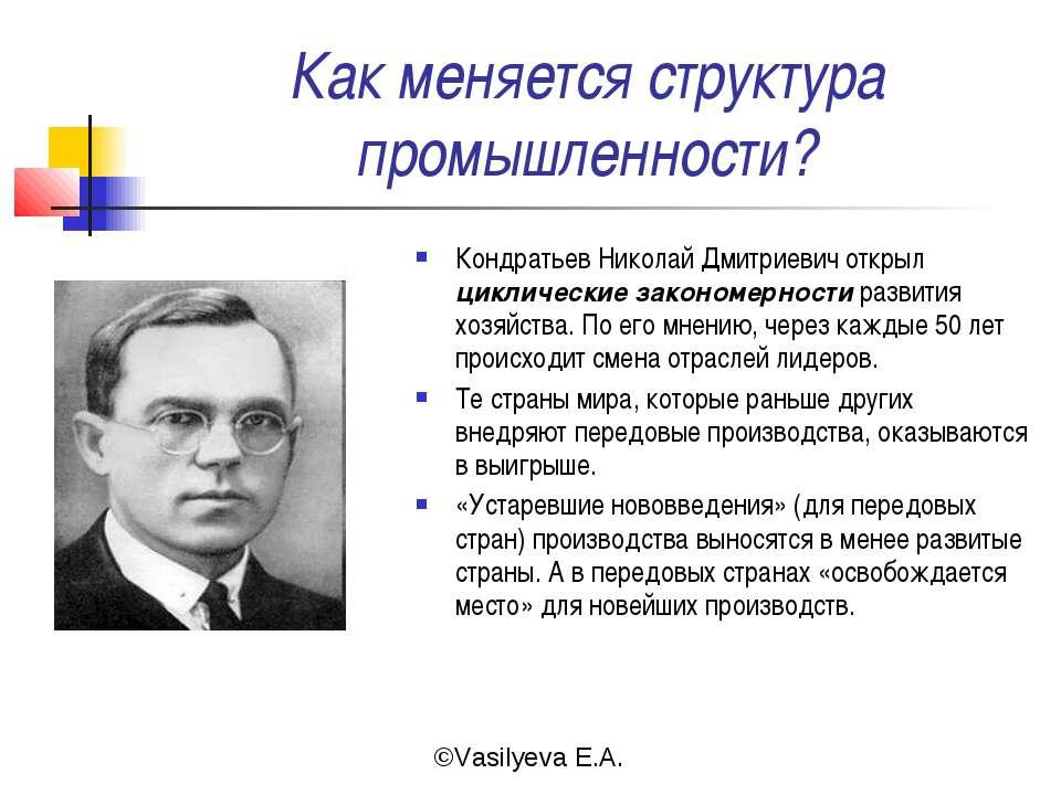 Как меняется структура промышленности? Кондратьев Николай Дмитриевич открыл ц...