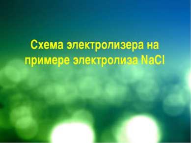 Схема электролизера на примере электролиза NaCl