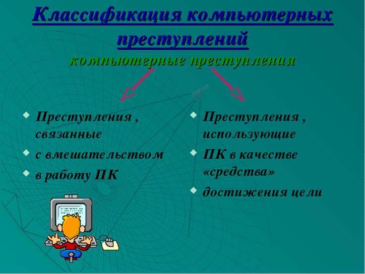 Классификация компьютерных преступлений компьютерные преступления Преступлени...