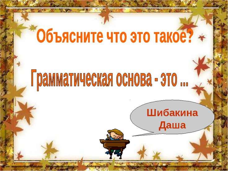 Шибакина Даша