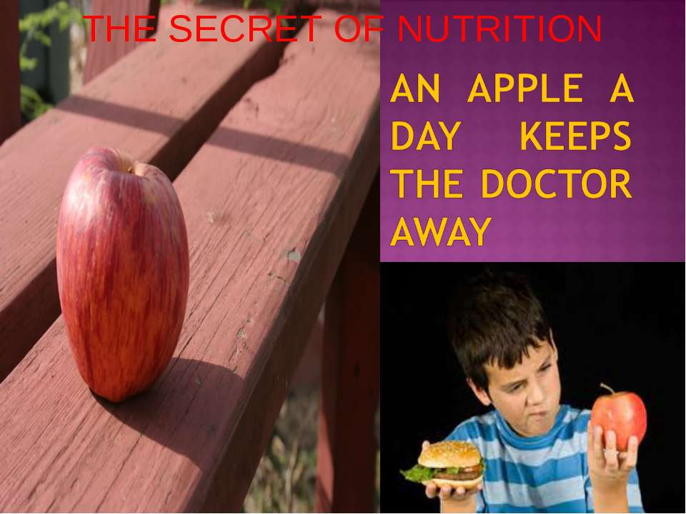 THE SECRET OF NUTRITION