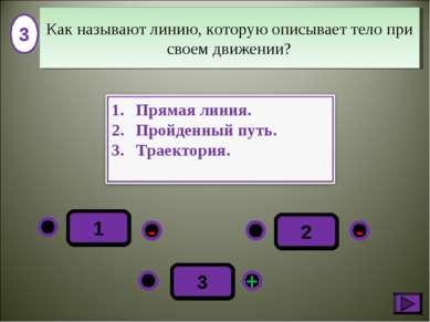 1 - + - 3 2 3 Как называют линию, которую описывает тело при своем движении?