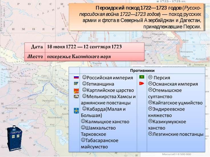 Персидский поход 1722—1723 годов(Русско-персидская война 1722—1723годов)— ...