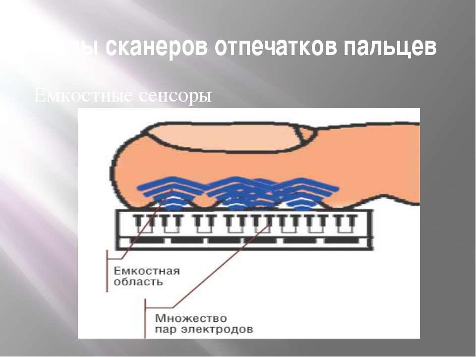 Типы сканеров отпечатков пальцев Емкостные сенсоры