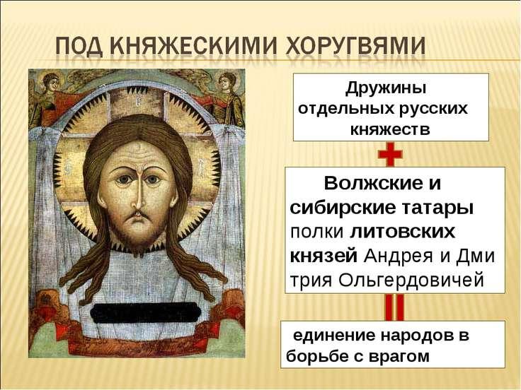 Волжские и сибирские татары  полки литовских князейАндреяиДмитрияОльге...