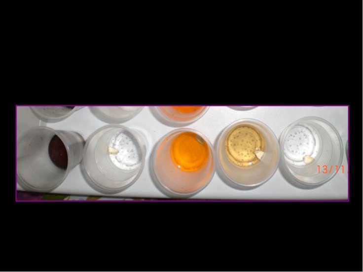 Взаимодействие лимонадов с кусочками масла