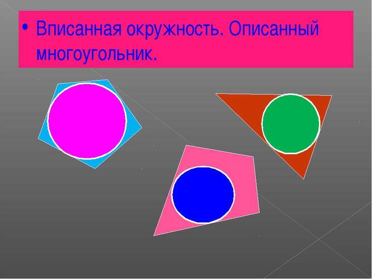 Вписанная окружность. Описанный многоугольник.