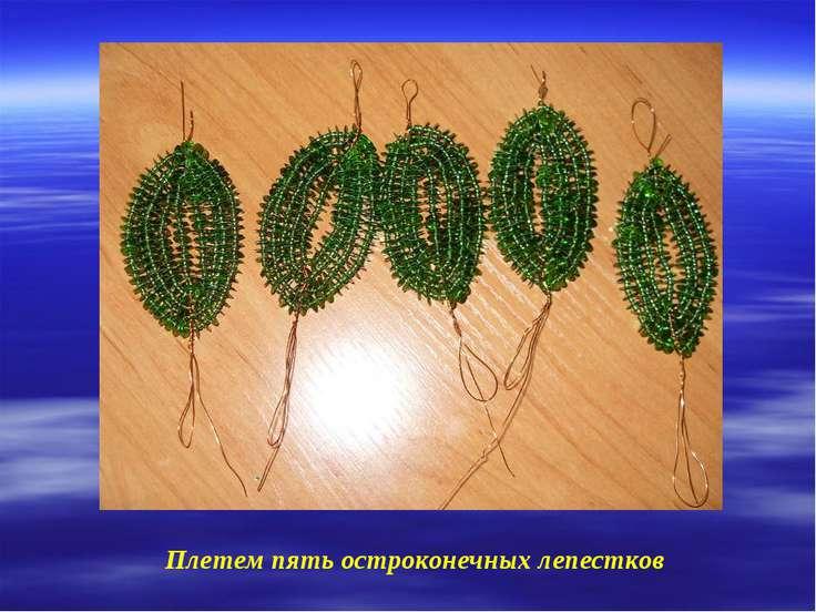 Плетем пять остроконечных лепестков