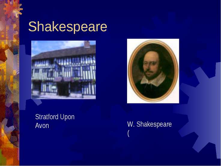 Shakespeare Stratford Upon Avon W. Shakespeare (