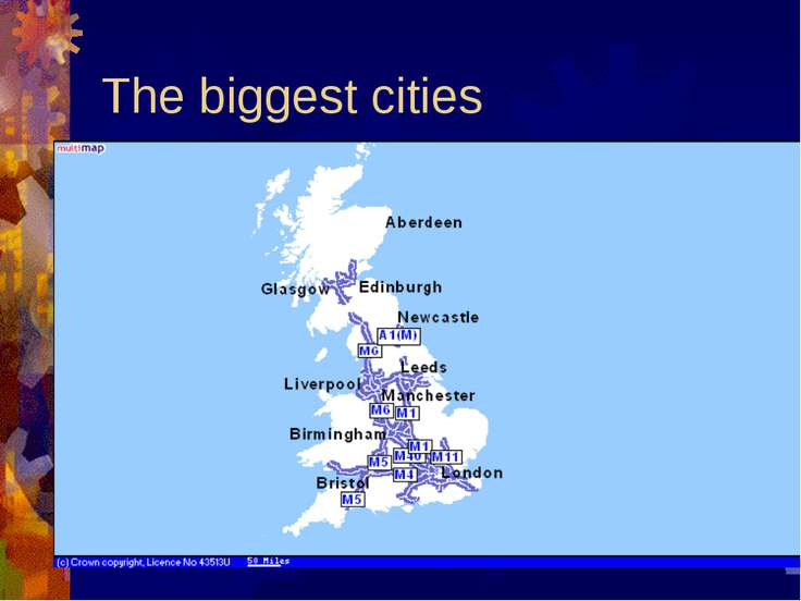 The biggest cities