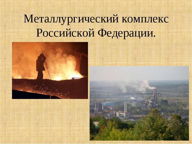 Металлургический комплекс Российской Федерации.