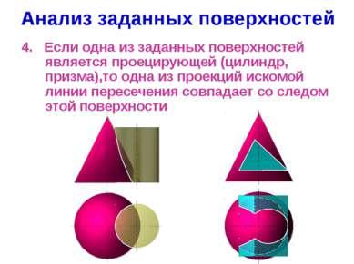 Анализ заданных поверхностей 4. Если одна из заданных поверхностей является п...
