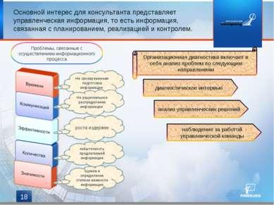 * Основной интерес для консультанта представляет управленческая информация, т...