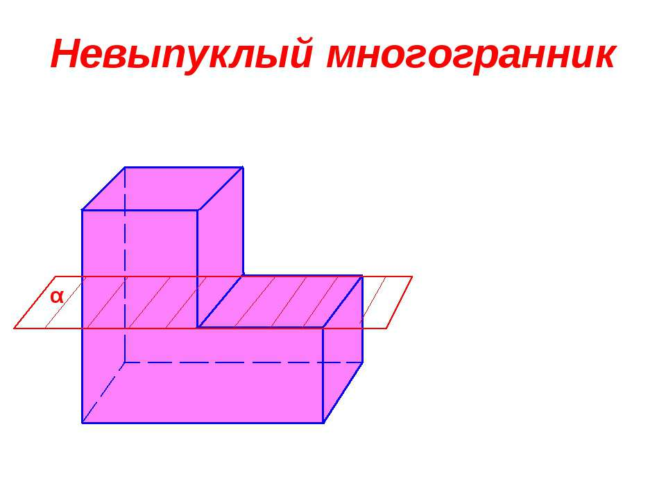 Невыпуклый многогранник α