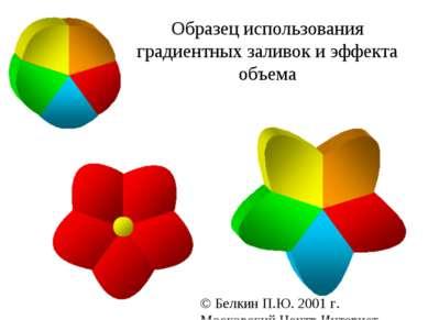 Образец использования градиентных заливок и эффекта объема