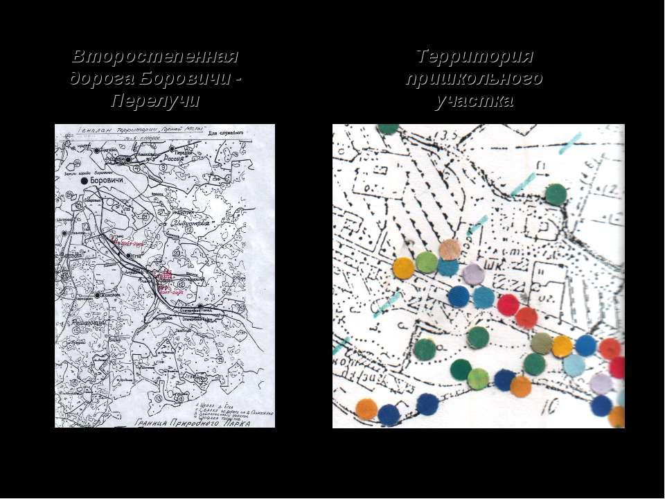 Второстепенная дорога Боровичи - Перелучи Территория пришкольного участка