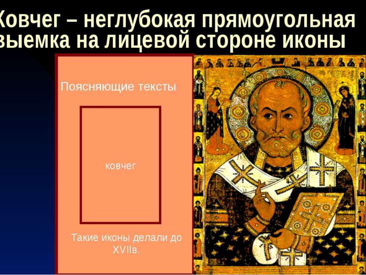 Ковчег – неглубокая прямоугольная выемка на лицевой стороне иконы ковчег Пояс...