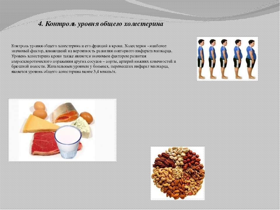 4. Контроль уровня общего холестерина Контроль уровня общего холестерина и ег...
