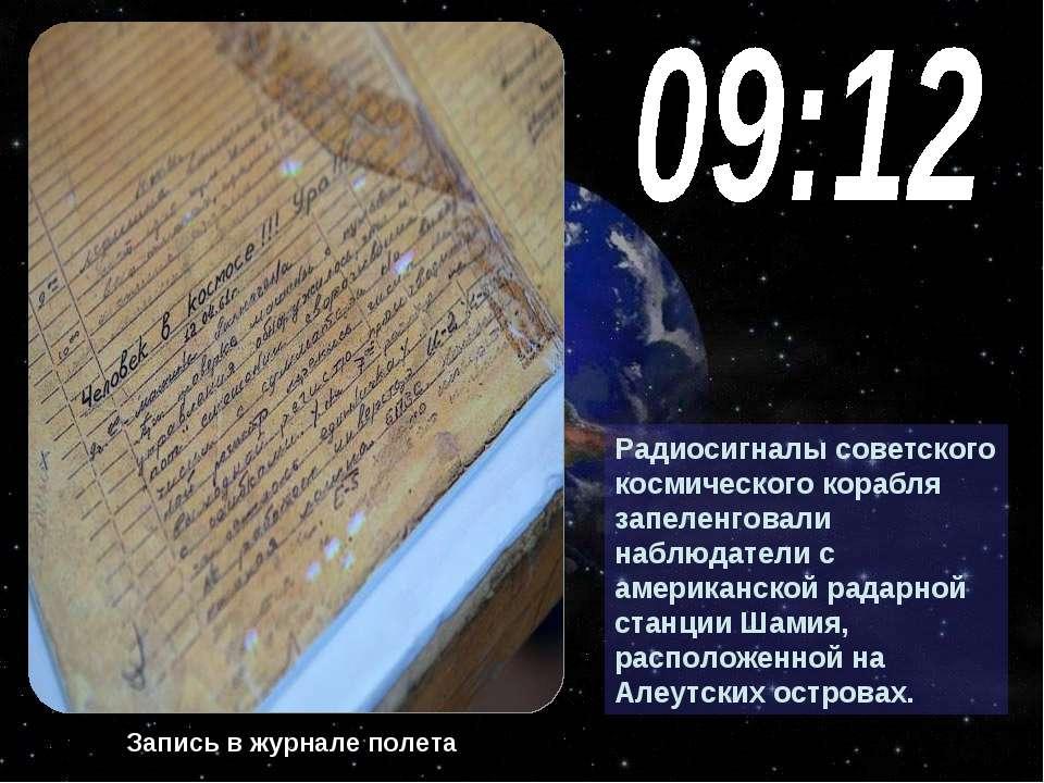 Радиосигналы советского космического корабля запеленговали наблюдатели с амер...
