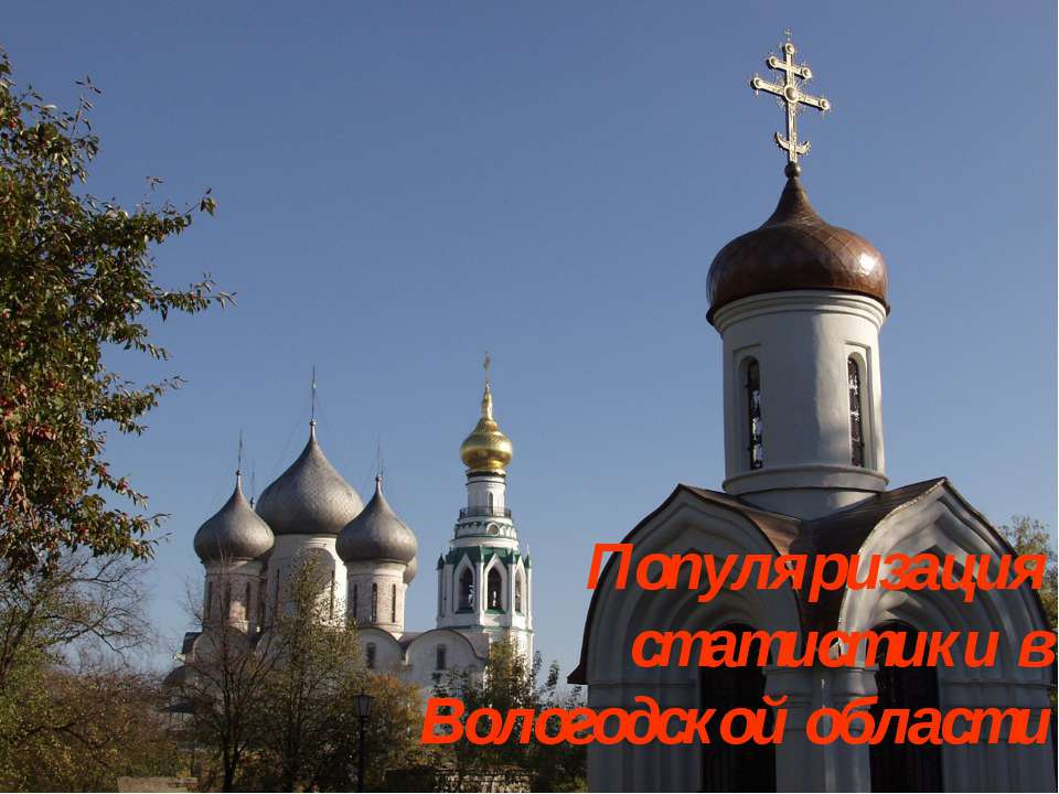 Популяризация статистики в Вологодской области