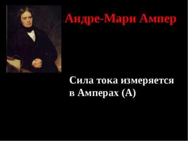 Андре-Мари Ампер Сила тока измеряется в Амперах (А)