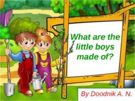 What are the little boys made of?