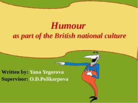 Humour as part of the British national culture