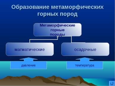 Образование метаморфических горных пород давление температура