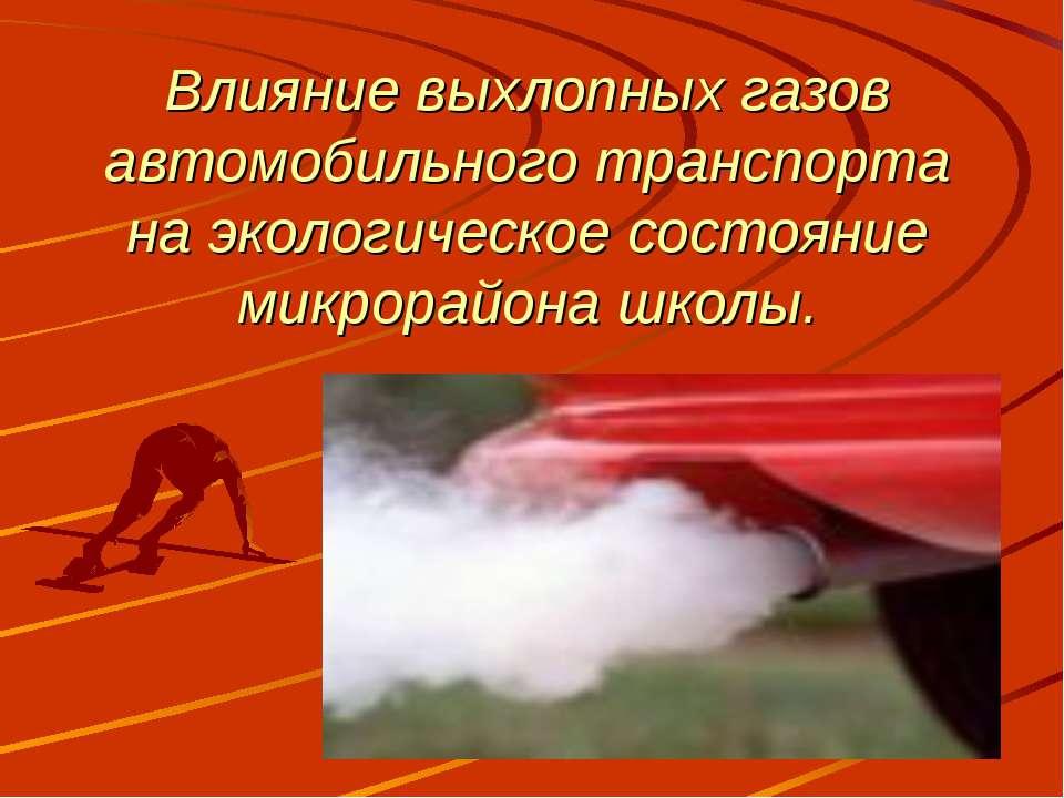 Влияние выхлопных газов автомобильного транспорта на экологическое состояние ...