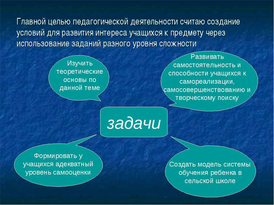 Главной целью педагогической деятельности считаю создание условий для развити...