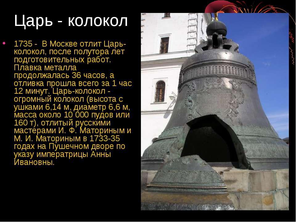 Царь-колокол, вес 72 тонны