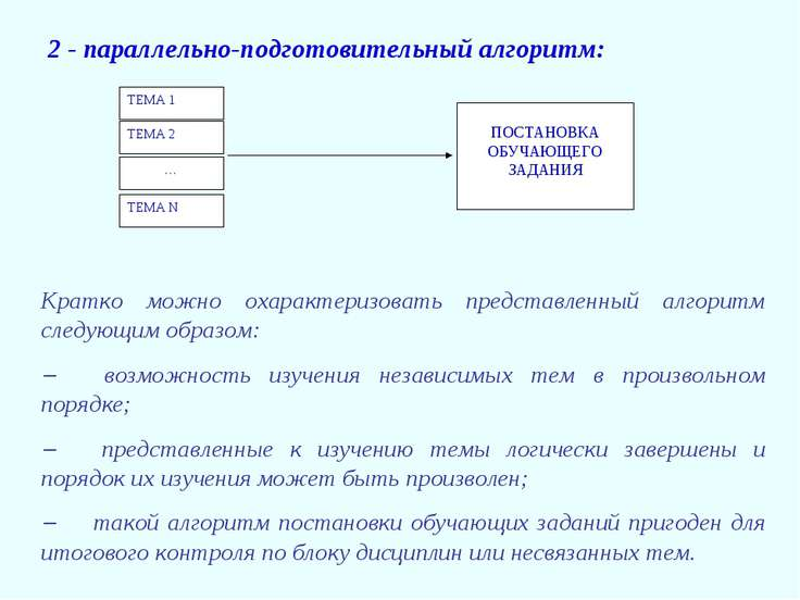 2 - параллельно-подготовительный алгоритм: Кратко можно охарактеризовать пред...