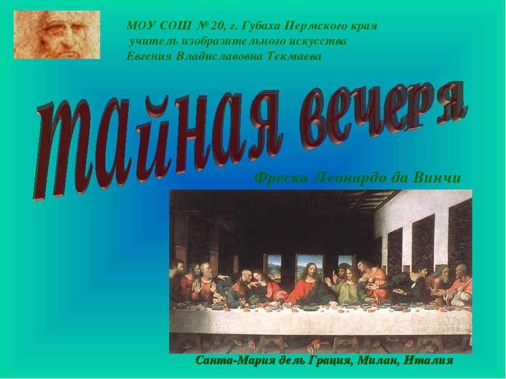 МОУ СОШ № 20, г. Губаха Пермского края учитель изобразительного искусства Евг...