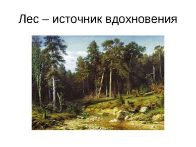Лес – источник вдохновения