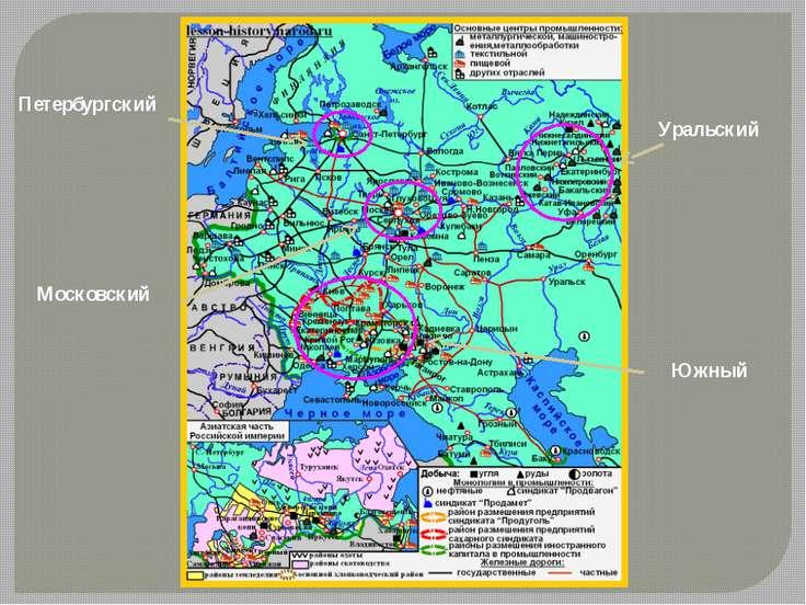 Московский Петербургский Уральский Южный