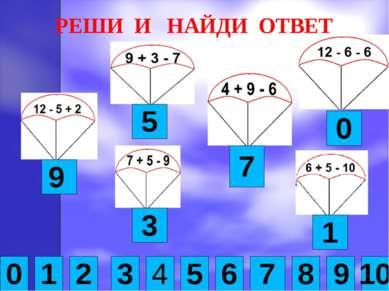 РЕШИ И НАЙДИ ОТВЕТ 0 1 2 3 4 6 8 9 10 5 7 9 5 7 1 3 0